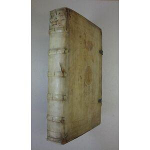 Commentarius in vetus et novum testamentum. Bd. 1 (v.3). Antwerpen, M. Nutius 1632. Fol. 11 Bll., 811 S., mit gest. Titel v. Galle, 1 (mehrf. gef.) K