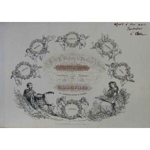 Fioretti lirici. Cantilènes italiennes. Paris, Pacini (um 1840). Quer 4°. 15 Bll. gest. Noten mit Text, mit lithogr. Titel u. 6 (getönt.) lithogr. An