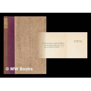 Angels & Ministers Three Plays of Victorian Shade & Character Housman, Laurence [ ] [Hardcover]