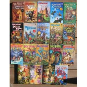 """Xanth: (volumes 1, 2, 3, 4, 5, 6, 7, 8, 9, 10, 11, 12, 13, 14, 15, 16, 17, 18, 19) -(nineteen (19) soft covers, the 1st 19 books in the """"Xanth"""" serie"""