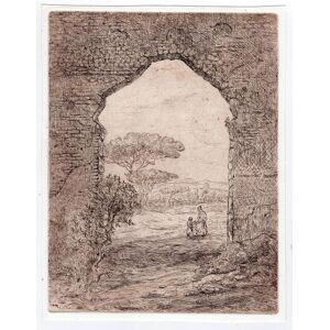Bosch Etienne BOSCH Mother and child seen through an arch   [Good]