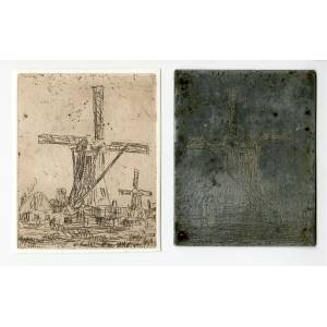 Bosch WINDMILL-LANDSCAPE 'Untitled' Etienne BOSCH, ca. 1905   [Good]
