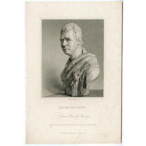 Antique Print-WALTER SCOTT-POET-WRITER-HOLL after CHANTREY-1831   [Good]