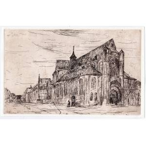 Bosch Etienne BOSCH Etching with plate: Cathedral   [Good]