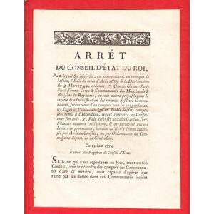 ARRET DU CONSEIL D'ÉTAT DU ROI, PAR lequel Sa Majesté, en interprétant que de besoin, l'Édit du mois d'Août 1669 & la Déclaration du 3 Mars 1749, ord
