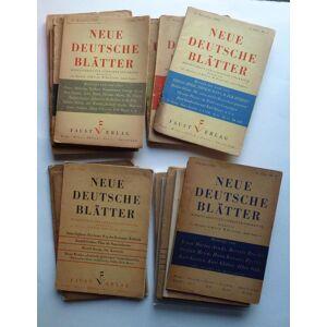 Neue Deutsche Blätter. Monatsschrift für Literatur und Kritik. 16 Hefte (von 18) der Jahrgänge I und II. 22,3 x 15,5 cm. Prag u. a. 1933-1935. Graf O