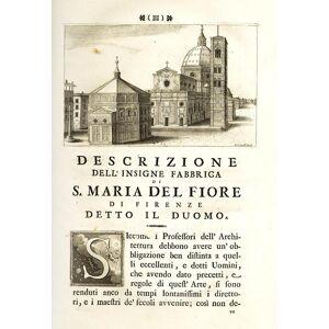 Dell Descrizione e studi dell'insigne fabbrica di S. Maria del Fiore metropolitana fiorentina, SGRILLI, Bernardo Sansone. [ ] [Hardcover]