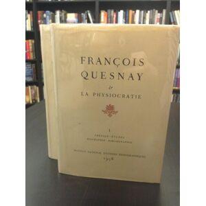 La Physiocratie - two volume set - Volume 1: Preface - Etudes - Biographie - Bibliographie Volume 2: Textes - Annotes Quesnay, Francois [Very Good] [