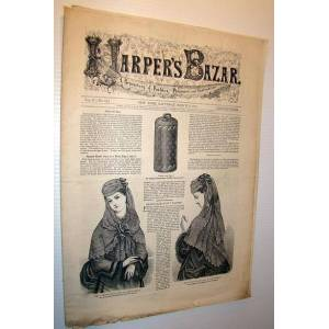 Harper's Bazar (Bazaar) Magazine, March 9, 1872 - A Repository of Fashion, Pleasure, and Instruction Contributors, Multiple [Good] [Softcover]