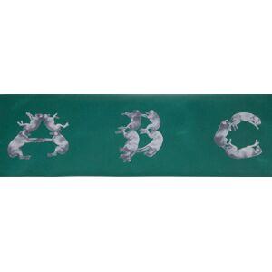 """WILLIAM WEGMAN A,B,C.Z 13"""" x 360"""" Serigraph 1993 Pop Art Green Dogs, Alphabet Wegman, William [As New]"""