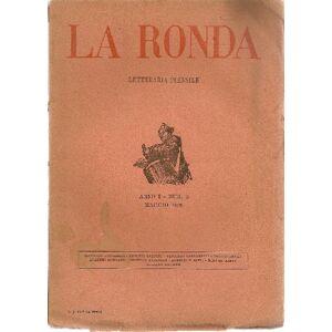 Ronda La Ronda Letteraria mensile. Anno I, N. 2, Maggio 1919 LA RONDA LETTERARIA MENSILE REDATTA DA RICCARDO BACCHELLI, ANTONIO BALDINI, BRUNO BARILLI, VIN