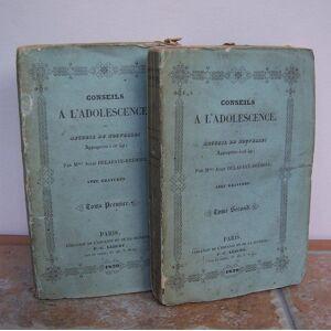 CONSEILS A L'ADOLESCENCE, ou Recueil de Nouvelles appropriees a cet age. DELAFAYE-BREHIER, Mme Julie. ( Delafaie-Brehyer ). [ ] [Softcover]