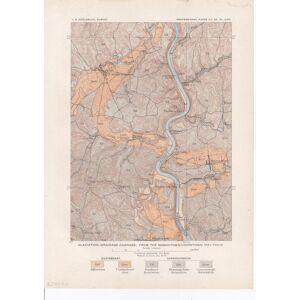 Glaciation-drainage changes: From The Masontown-Uniontown. PENNSYLVANIA / MASONTOWN. [ ]