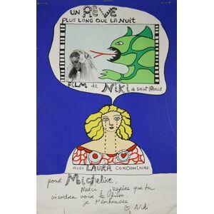Un rêve plus long que la nuit, présentation du film de 1976 de Niki de Saint Phalle, booklet de 15 ff., 31.5 x 21 cm, créé par l?artiste elle-même, e
