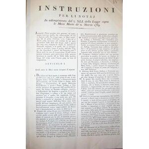 LEGGI SULLE MANI - MORTE, E SU 'I LIVELLI. Raccolta di 53 Editti originali fiorentini in materia, rilegati. 1751-1826.   [Fair] [Hardcover]