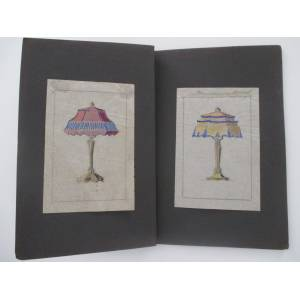 Lamp shades. 26 designes for lamp shades. Lamp shades - Hoppe, Emil (?). [ ] [Hardcover]