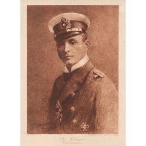 (Herford 15. 09. 1882 - 18. 03. 1915 auf See). Marine Offizier, Kapitänleutant und U-Boot Kommandant, Brustbild nach links in Uniform m. Eisernem Kre