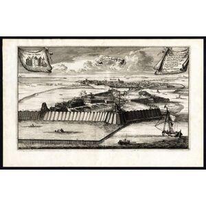 Antique Print-MUIDEN-MUIDERSLOT-NETHERLANDS-CASTLE-van den Bosch-de Hooghe-1675   [ ]