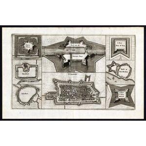 Antique Print-UTRECHT-AMERSFOORT-MONTFOORT-FORT-NETHERLANDS-van den Bosch-1675   [ ]