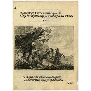 Antique Print-VANITY-DANCING-GOATS-15-Savery-Veen-1642   [ ]