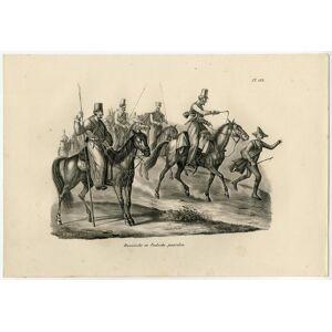 Antique Print-RUSSIAN HORSE-POLISH-PLATE 132-Schinz-De Visser-1845   [ ]