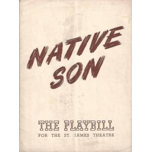 Native Son, Program for Orson Welles Production, 1941 (Wright, Richard and Paul Green) [Very Good] [Softcover]