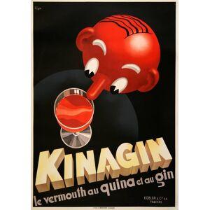 Kinagin Original Vintage Liquor Poster by Patke 1941 Kinagin Original Vintage Liquor Poster by Patke 1941 Patke [As New]