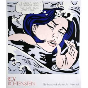 Original Vintage Pop Art Poster by Roy Lichtenstein MoMA 1989 Original Vintage Pop Art Poster by Roy Lichtenstein MoMA 1989 Roy Lichtenstein [As New]