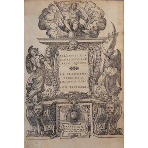 Le Trasformationi di M. Lodovico Dolce OVIDIUS & DOLCE, Lodovico. [Near Fine] [Hardcover]