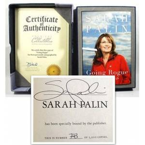 Sarah Palin GOING ROUGE Signed Limited First Edition, First Printing w/COA, Leather Tray Case [As New] Sarah Palin [New] [Hardcover]