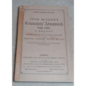 John Wisden's Cricketers' Almanack for 1885 - 1885 Wisden Paperback, Facsimile Spine, Very Good. John Wisden [ ] [Softcover]