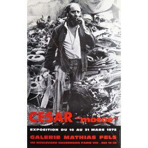 """CÉSAR """"motos"""". (Affiche d'exposition / exhibition poster). CÉSAR [Fine]"""