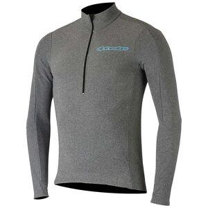 Alpinestars Alpine Stars Men's Booter Warm Jersey - Medium - Melange Grey / Atoll Blue