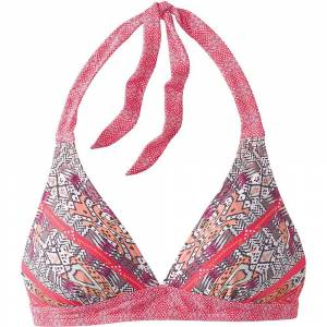 Prana Women's Lahari Halter Top - Small - Carmine Pink Marrakesh