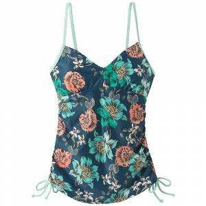 Prana Women's Moorea Tankini - Medium - Atlantic Camelia