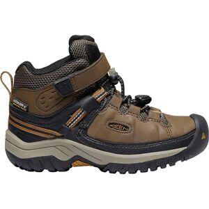 KEEN Kids' Targhee Mid Waterproof Shoe - 12 - Dark Earth / Golden Brown