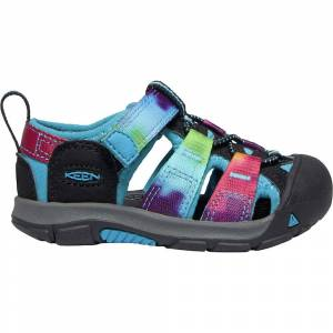 KEEN Kids' Newport H2 Water Sandals with Toe Protection and Quick Dry - 13 - Rainbow Tie Dye