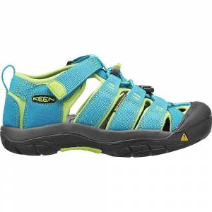 KEEN Kids' Newport H2 Water Sandals with Toe Protection and Quick Dry - 12 - Hawaiian Blue / Green Glow