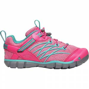 KEEN Youth Chandler CNX Shoe - 4 - Bright Pink / Lake Green
