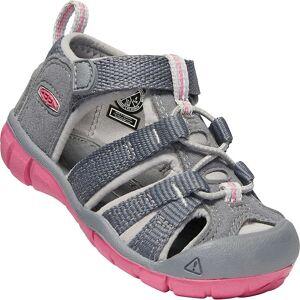 KEEN Toddler Seacamp II CNX Sandal - 4 - Steel Grey / Rapture Rose