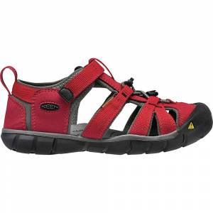 KEEN Youth Seacamp II CNX Sandal - 3 - Racing Red / Gargoyle
