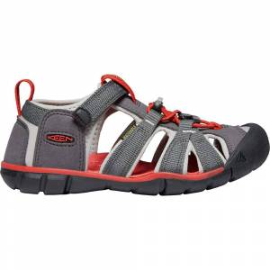 KEEN Youth Seacamp II CNX Sandal - 4 - Magnet / Drizzle