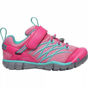 KEEN Kids' Chandler CNX Shoe - 12 - Bright Pink / Lake Green