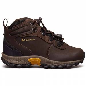 Columbia Footwear Columbia Kids' Newton Ridge Boot - 8 - Cordovan / Golden Yellow