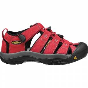 KEEN Youth Newport H2 Water Sandals with Toe Protection and Quick Dry - 4 - Ribbon Red / Gargoyle