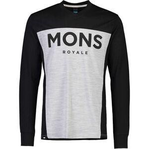 Mons Royale Men's Redwood Enduro VLS Top - Medium - Black/Grey Marl