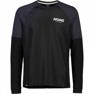 Mons Royale Men's Tarn Freeride LS Wind Jersey - Medium - Black / 9 Iron