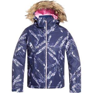 Roxy Girls' American Pie Jacket - 8/S - Medieval Blue/Arctic Leaves