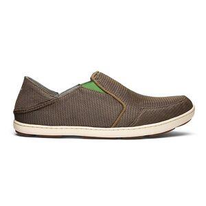 OluKai Men's Nohea Mesh Shoe - 10.5 - Mustang / Lime Peel