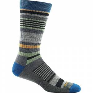 Darn Tough Vermont Darn Tough Men's Unstandard Stripe Crew Light Cushion Sock - XL - Grey